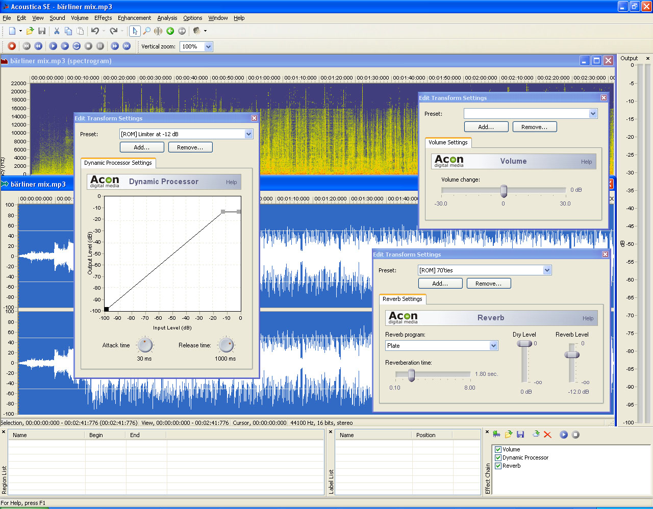 Multipurpose audio editor with CD burner
