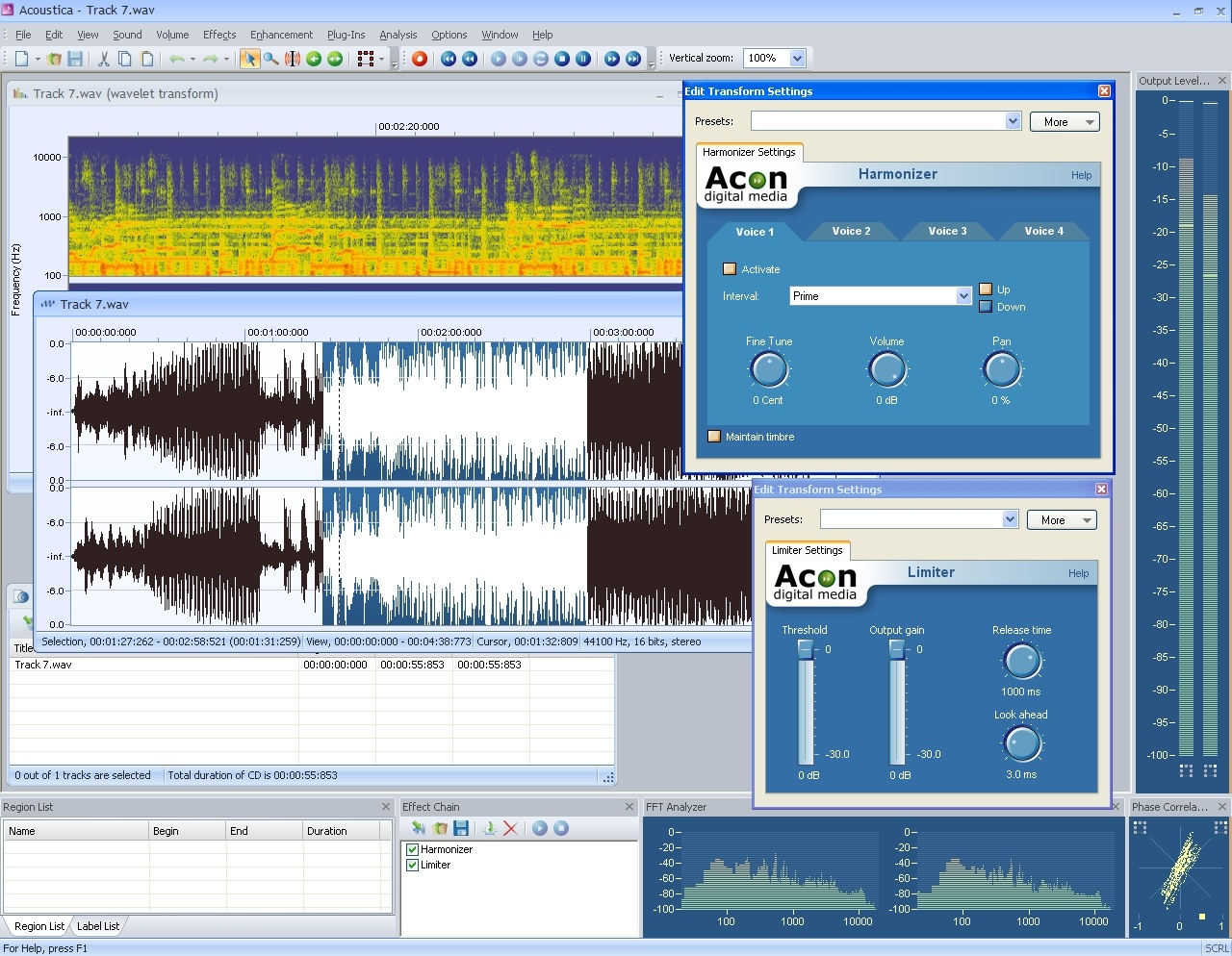 Acoustica makes it easy to record edit and process audio or to burn and rip CDs Screen Shot