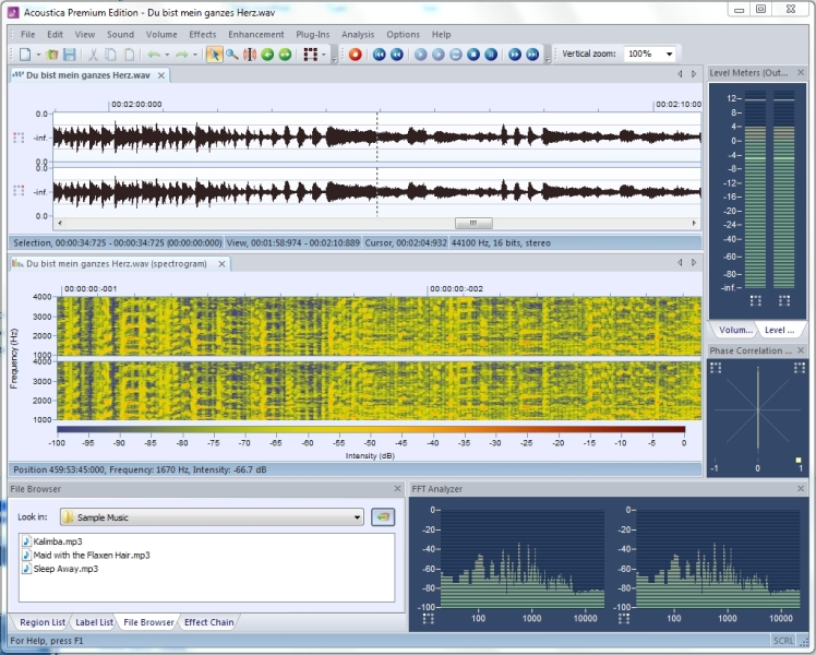 Click to view Acoustica Standard Edition 5.0 screenshot