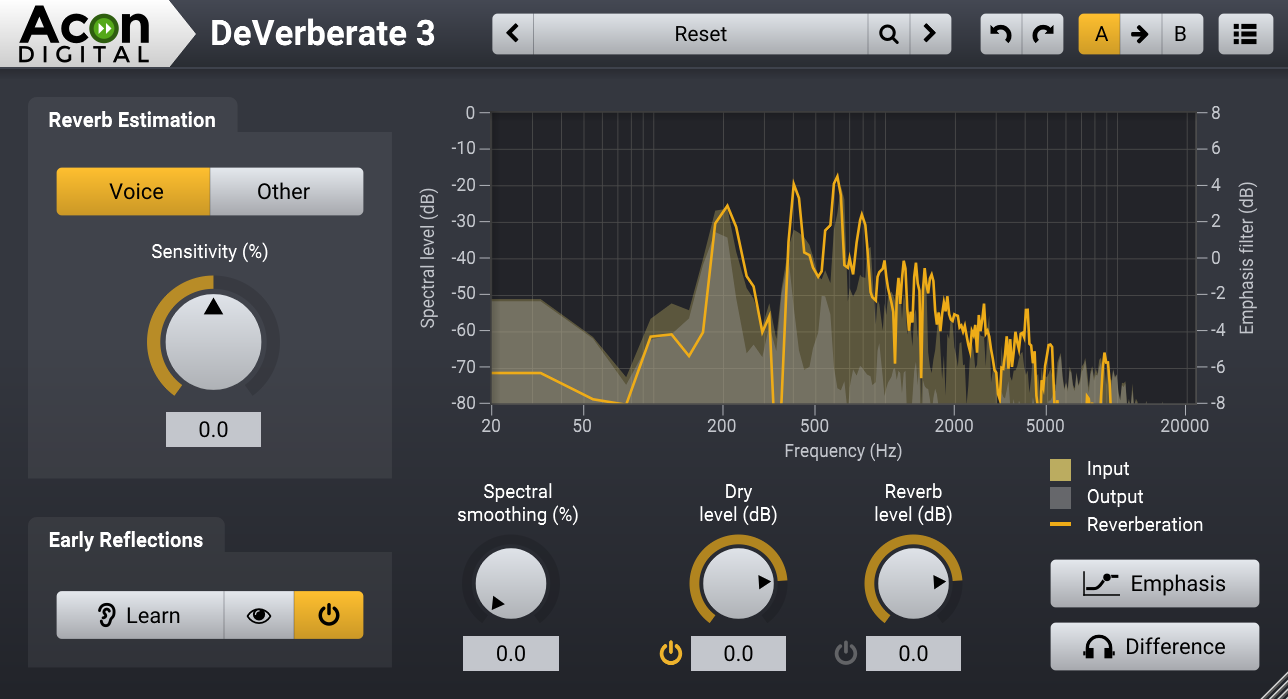 The DeVerberate 3 User Interface