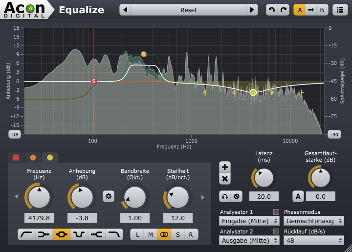 Screenshot von Acon Digital Equalize