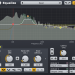 The Acon Digital Equalize user interface with the visualization of the frequency response and analyzer section in the upper part.