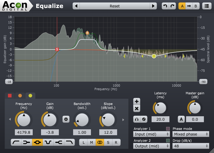 Screenshot of Acon Digital Equalize