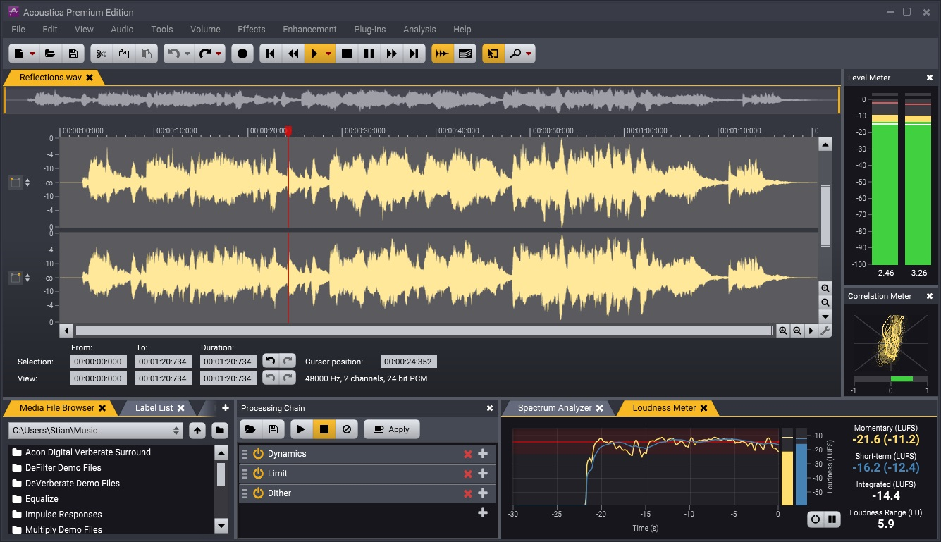Acoustica 7 Screenshot