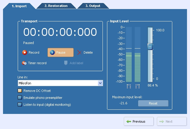 The recording dialog in AudioLava. Notice the timer record and the ...: https://acondigital.com/products/audiolava