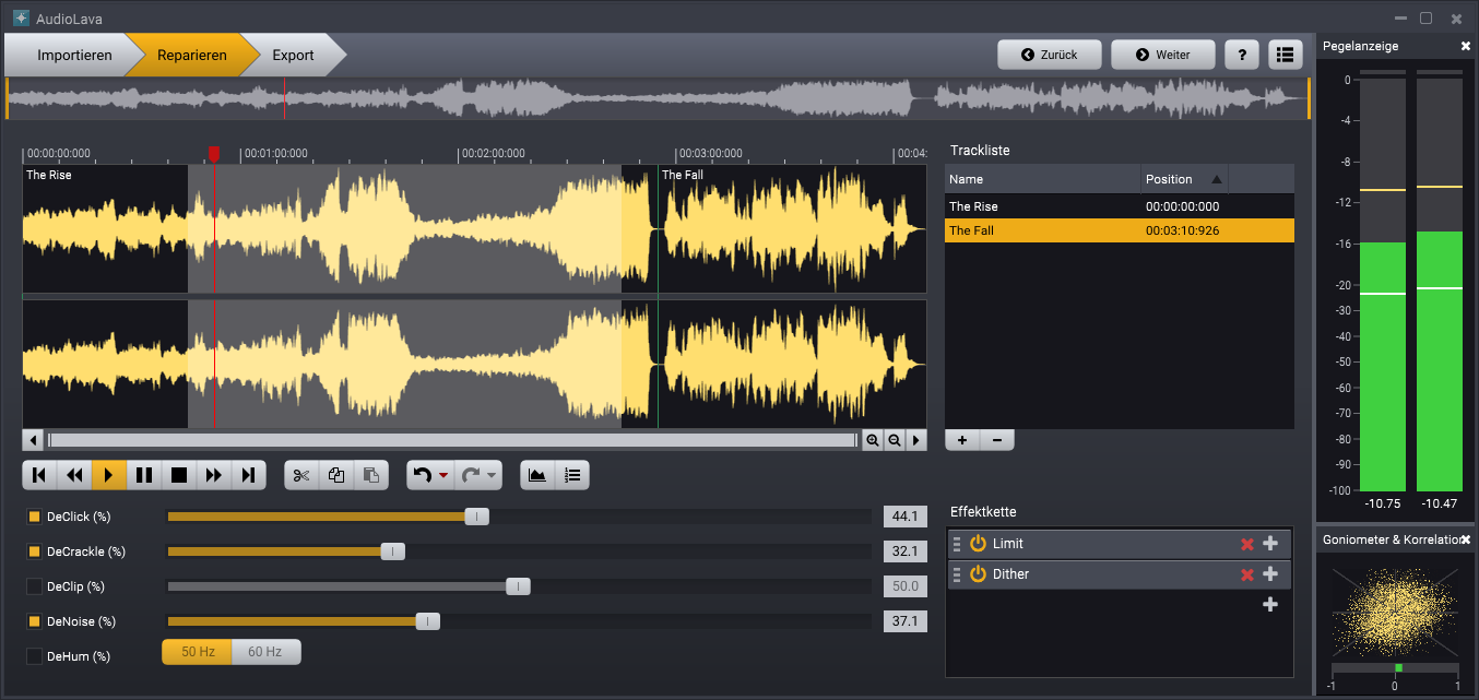 AudioLava 2 Screenshot